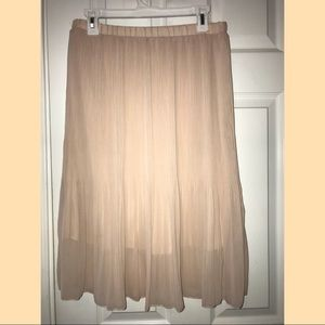 Blush sheer career/ event skirt beautiful EUC